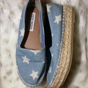 (Steve Madden) Talan Denim Star Platform Shoes